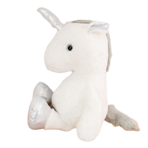 plush unicorn 60 80 cm silver 80cm not dear
