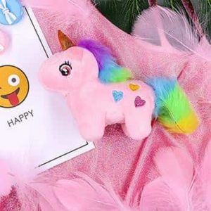 plush unicorn anti stress pink at sell