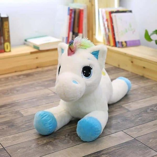 plush unicorn big in bow in sky 80cm at sell