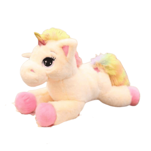 plush unicorn big in yellow and pink 80cm unicorn backpack store