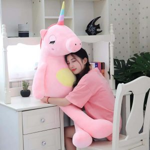 plush unicorn big pink 140cm price