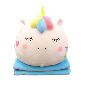 plush unicorn blanket pillow kawaii blue sleeping price