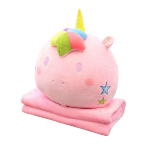 plush unicorn blanket pillow kawaii pink child