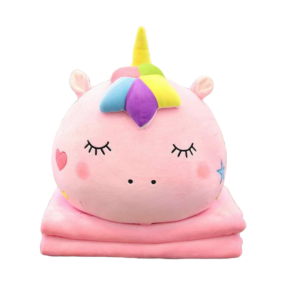 plush unicorn blanket pillow pink kawaii sleeping unicorn backpack store