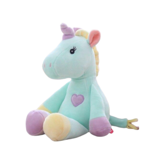 plush unicorn blue purple yellow