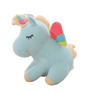 plush unicorn blue with wing child