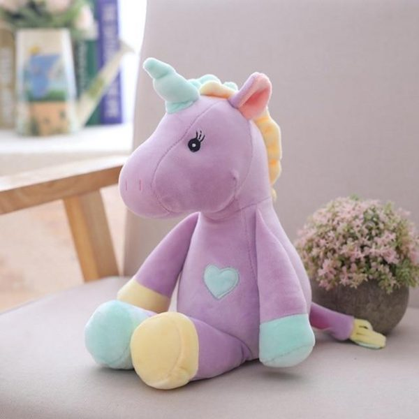 plush unicorn blue yellow purple buy