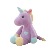 plush unicorn blue yellow purple child