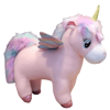 plush unicorn giant in bow in sky pink 50x45cm at sell