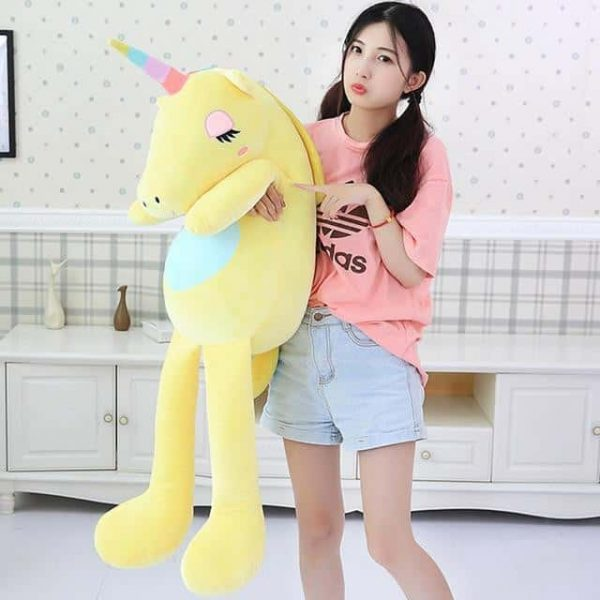 plush unicorn giant yellow 140cm at sell