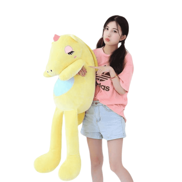 plush unicorn giant yellow 140cm