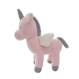 plush unicorn hook at knitting 23cm child