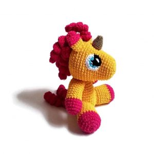 plush unicorn hook at knitting orange unicorn backpack store