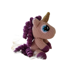 plush unicorn hook rose