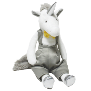 plush unicorn in suit money at sell