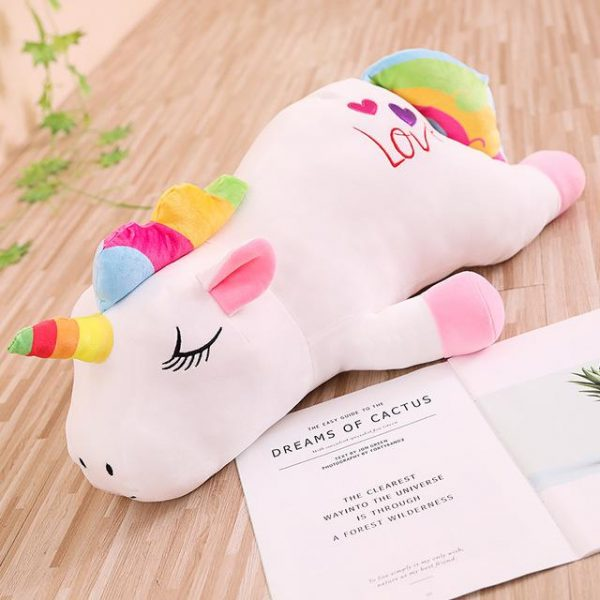 plush unicorn pillow white 85cm buy