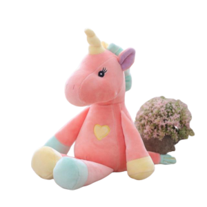 plush unicorn pink blue yellow price
