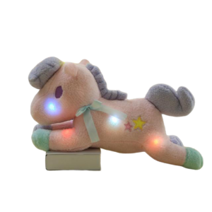 plush unicorn pink luminous