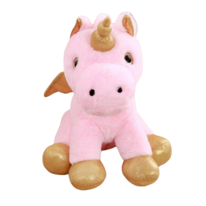 plush unicorn pink soft with wing 35cm at sell