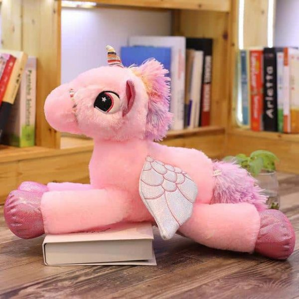 plush unicorn pink with wings 120cm
