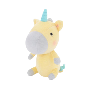 plush unicorn small cut yellow not dear