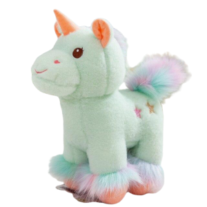 plush unicorn soft in fur green 50cm buy