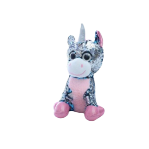 plush unicorn sparkling grey not dear