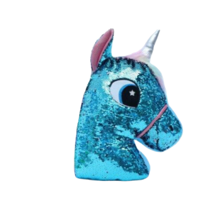 plush unicorn sparkling head blue at sell