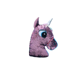 plush unicorn sparkling head pink child