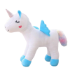 plush unicorn standing with wing blue 45cm not dear
