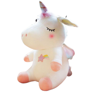 plush unicorn star white child