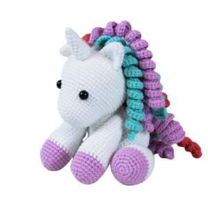 plush unicorn teddy at knitting not dear