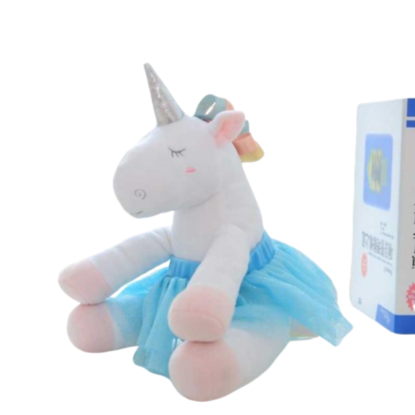 plush unicorn teddy child blue at sell
