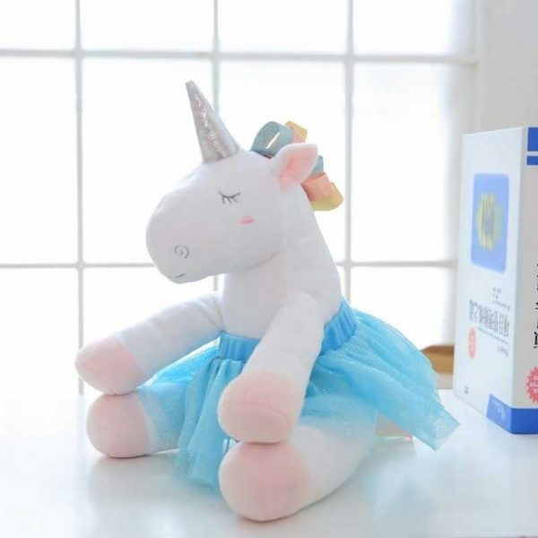 plush unicorn teddy child blue price