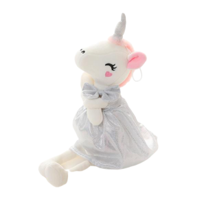 plush unicorn teddy girl grey 70cm buy