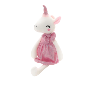 plush unicorn teddy girl pink 70cm child