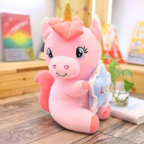 plush unicorn teddy sitting down pink 50cm at sell