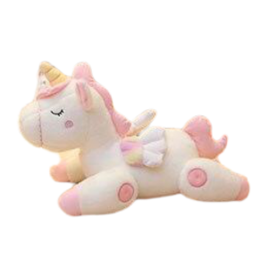 plush unicorn toy white 80cm at sell