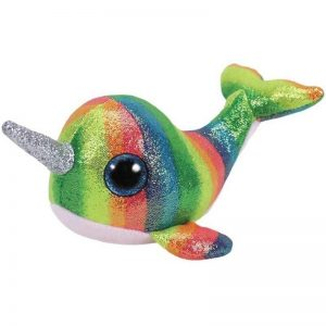 plush unicorn whale bow in sky child