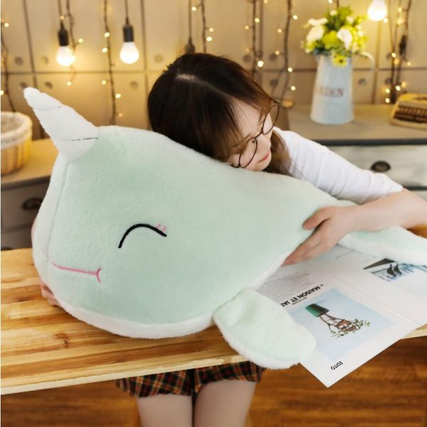 plush unicorn whale green 70cm child