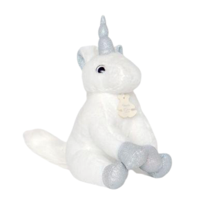 plush unicorn white soft horn grey price