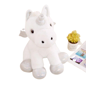 plush unicorn white sweet with wing 50cm child