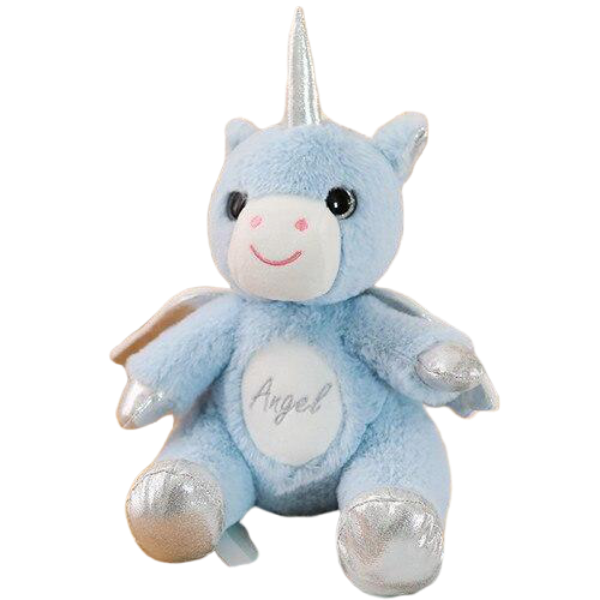 plush unicorn with wing blue buy
