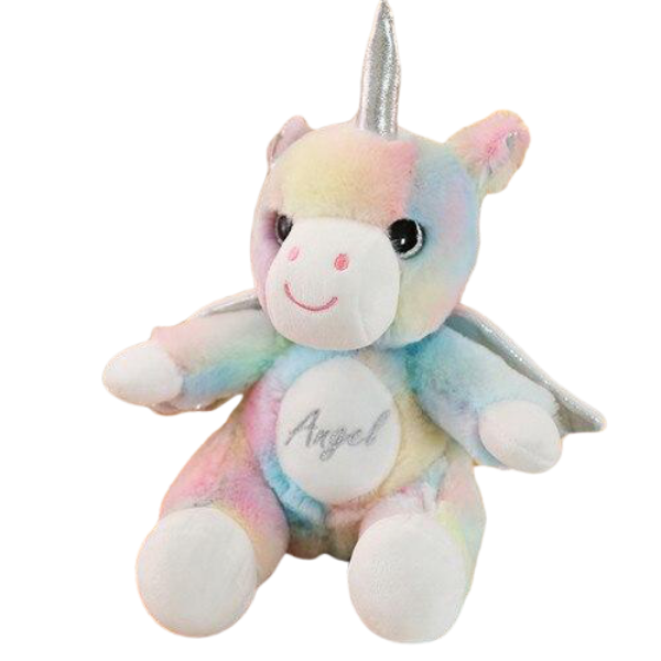 plush unicorn with wing bow in sky price