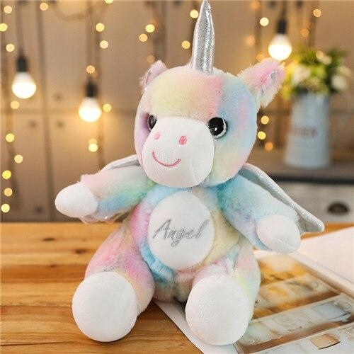 plush unicorn with wing bow in sky unicorn backpack store