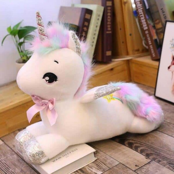 plush unicorn xxl 45cm white buy