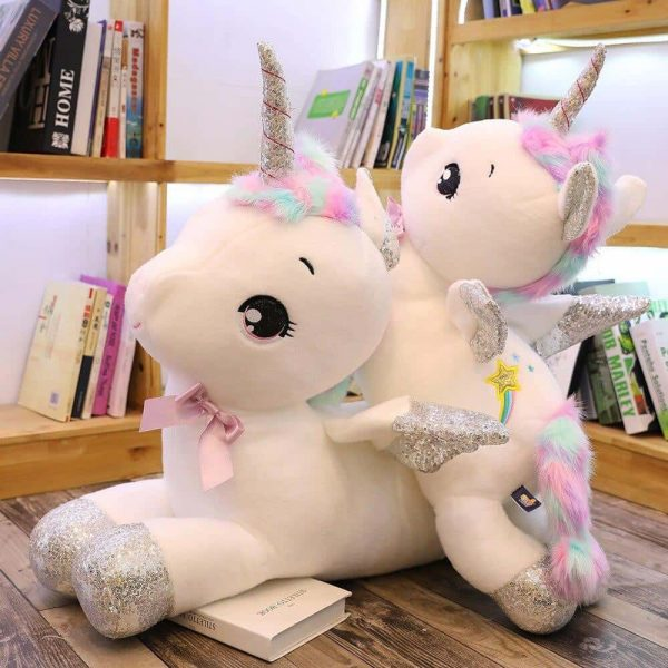plush unicorn xxl 45cm white not dear