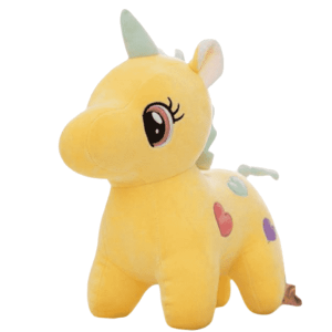 plush unicorn yellow 25cm at sell