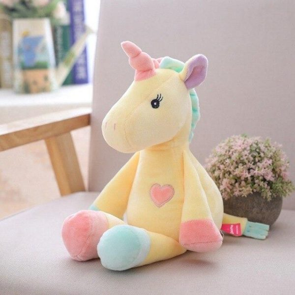 plush unicorn yellow pink blue unicorn backpack store