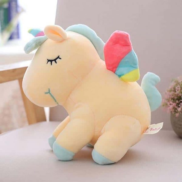 plush unicorn yellow with wing at sell